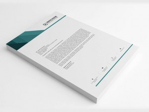 80 GSM Criss Cross Letterhead ( 210 x 280 mm Single Side) - With Pad | Qty : 1000